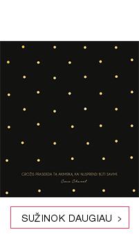 Mažas juodas darbo kalendorius su Coco Chanel citatomis